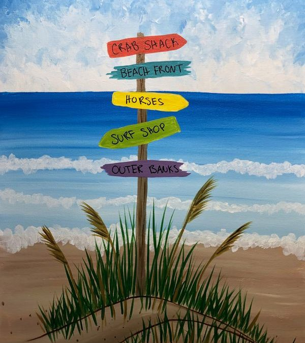 Paint Party: OBX Beach Signs
